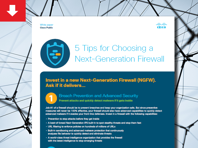 5 Tips for Choosing a Next-Generation Firewall White Paper