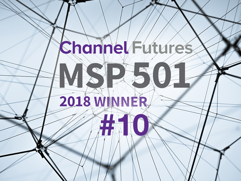 #10 on Channel Futures 11th annual MSP 501 Worldwide Company Rankings