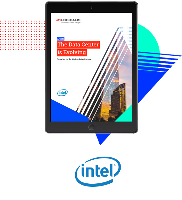The Data Center is Evolving Article Thumbnail on Tablet with Intel logo