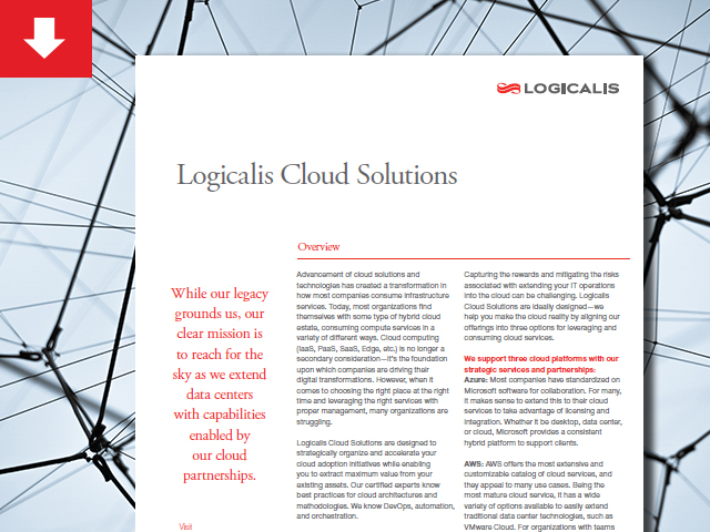 Datasheet: Logicalis Cloud Solutions