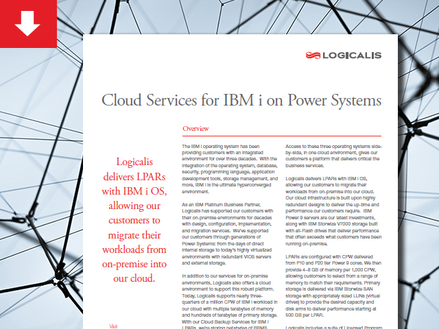 Datasheet: Cloud Services for IBM i on Power Systems