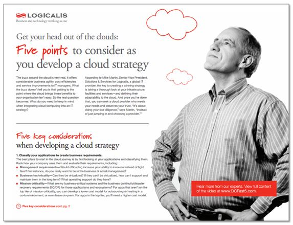 Five key considerations when developing a cloud strategy brief